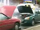 車が爆発ドッキリ