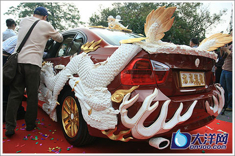 Ivory Carving Car-2