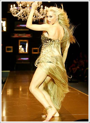 Human Hair Dress-Gold