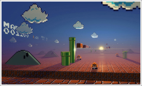 How Super Mario Bros Looks To Mario view!