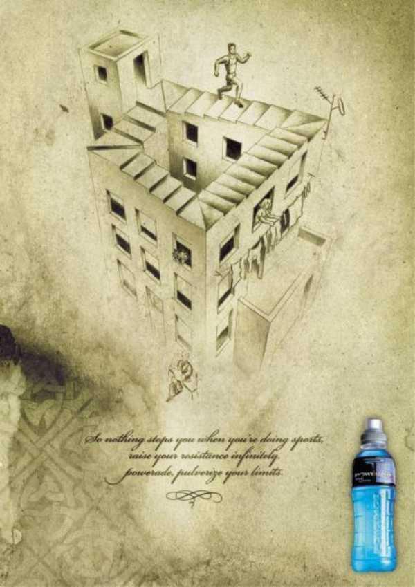 トリックアート広告-3